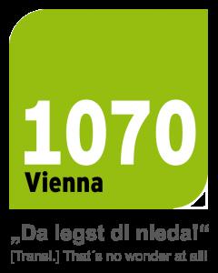 1070 Vienna Logo - da legst di nieda