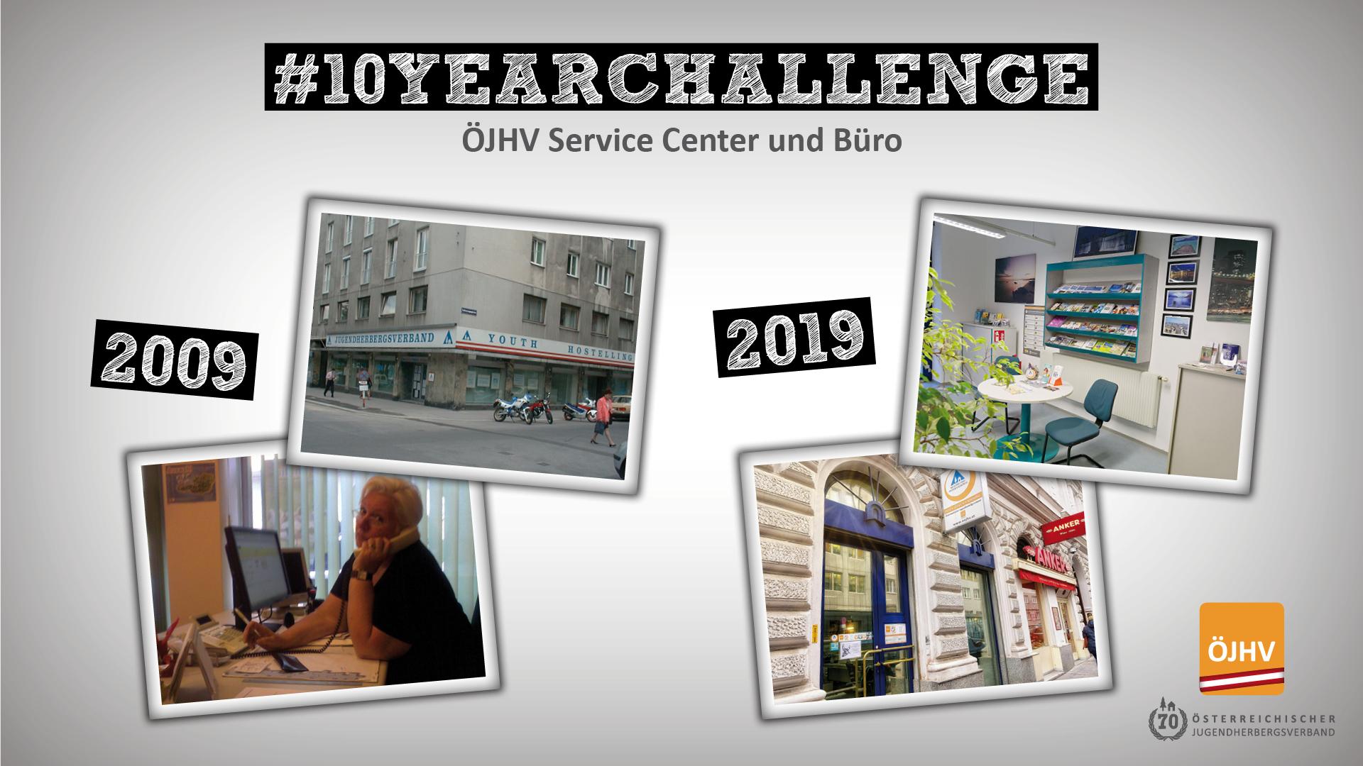 Jugendherbergsverband #10YearChallenge Büro Wien