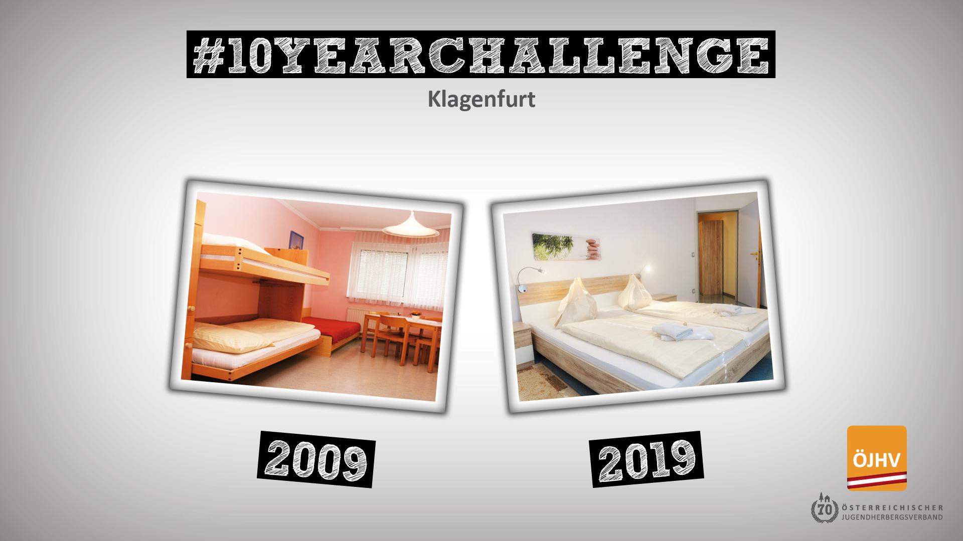 Jugendherbergsverband #10YearChallenge Klagenfurt