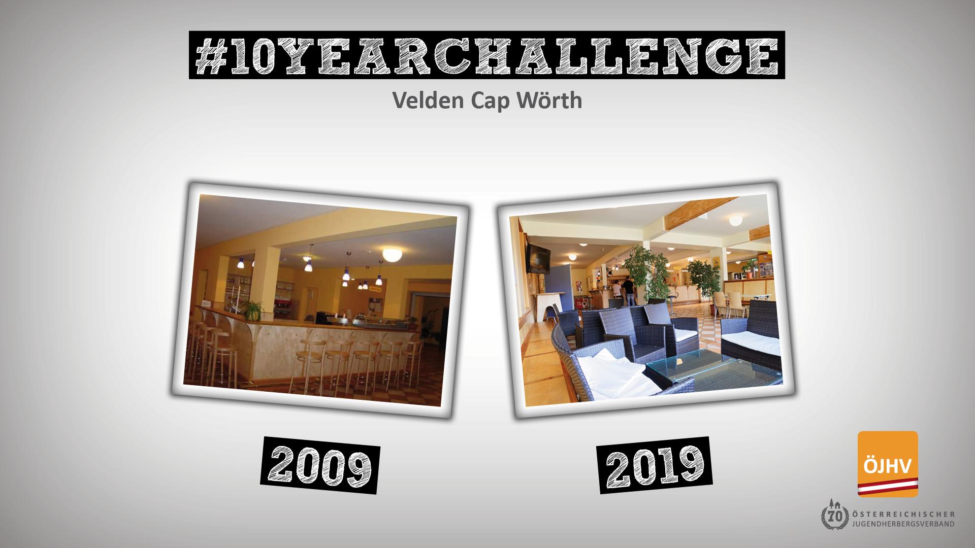 Jugendherbergsverband #10YearChallenge Velden Cap Wörth