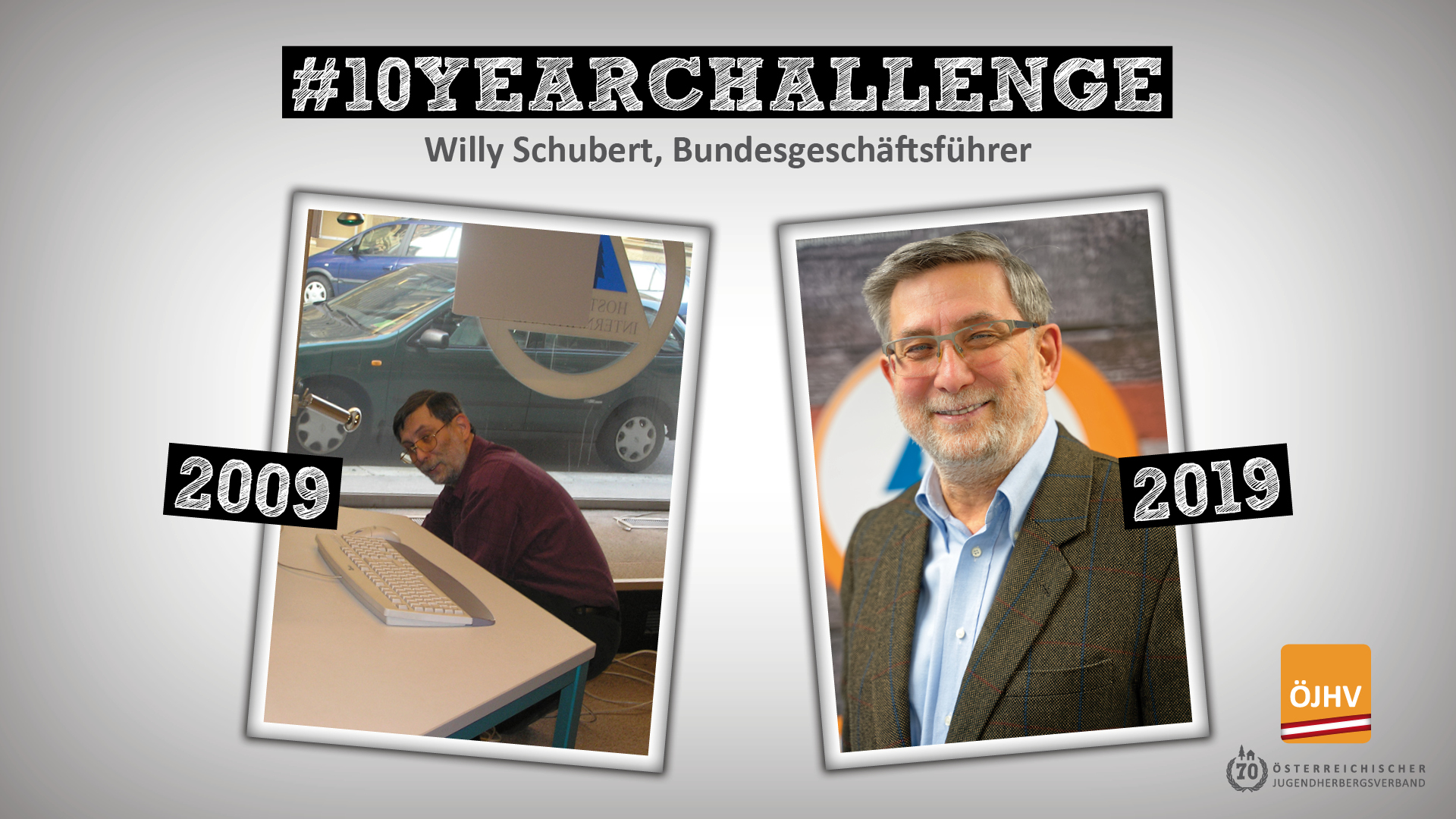 Jugendherbergsverband #10YearChallenge Willy Schubert