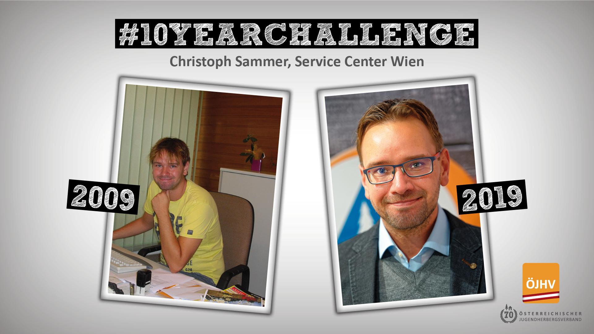 Jugendherbergsverband #10YearChallenge Christoph Sammer