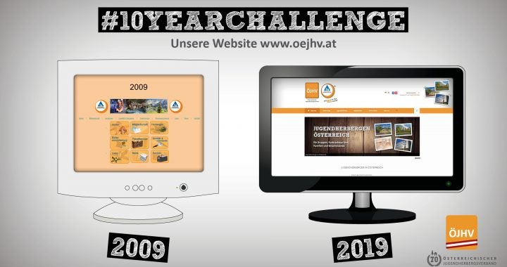 Jugendherbergsverband #10YearChallenge Website