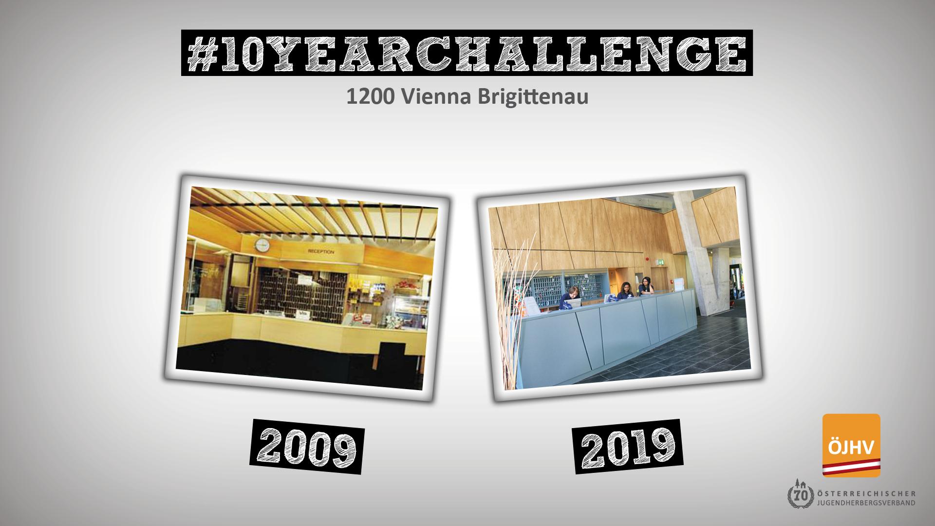 Jugendherbergsverband #10YearChallenge 1200 Vienna Brigittenau