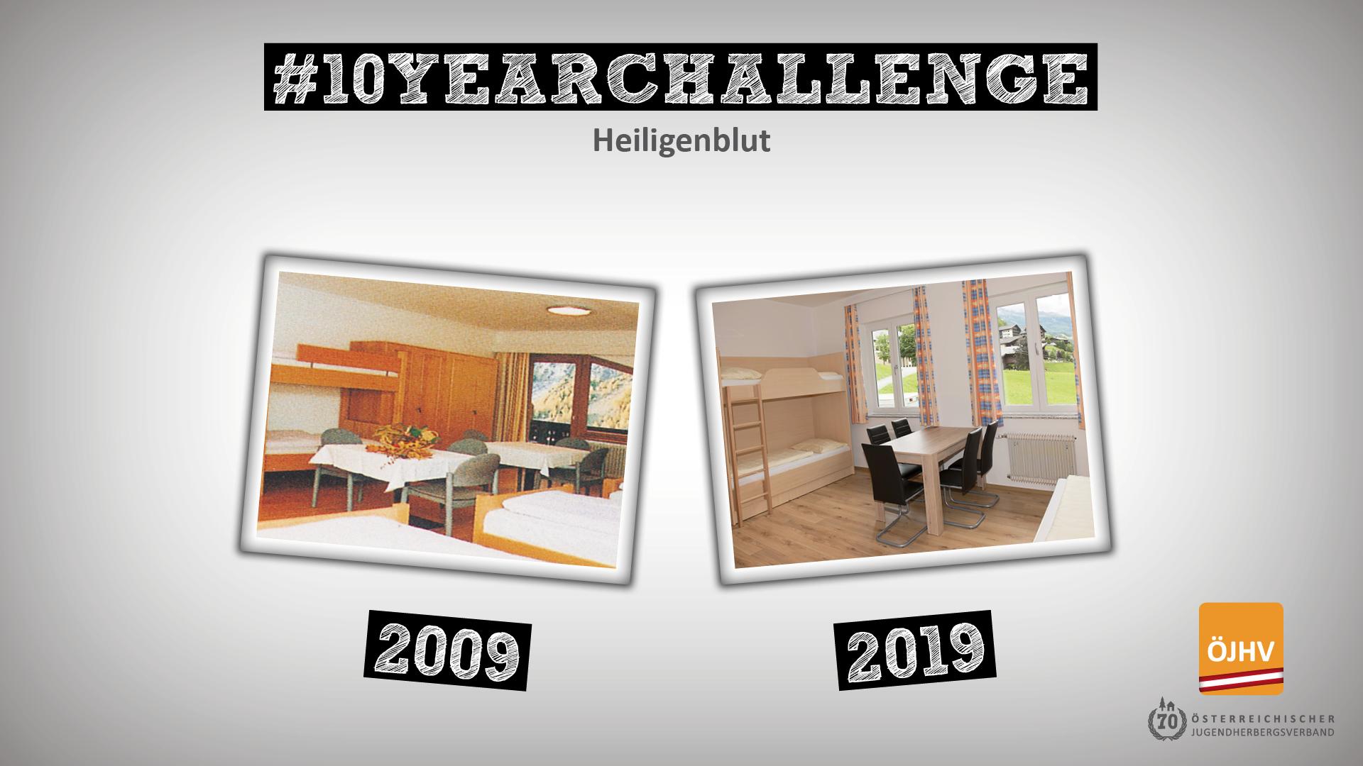 Jugendherbergsverband #10YearChallenge Heiligenblut