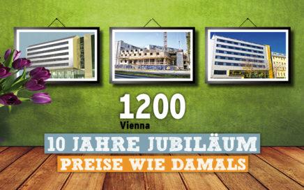 Preise wie damals - 10 Jahre 1200 Vienna Youth Palace - Angebot sichern