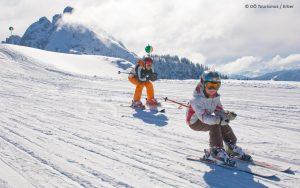 Skigebiet Dachtein West Abfahrt - © OÖ Tourismus / Erber