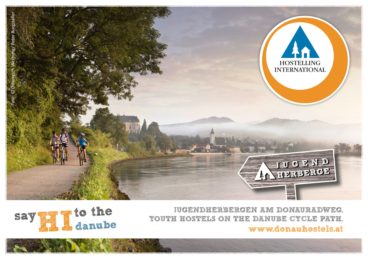 Flyer: Danube Cycle Path Youth Hostels