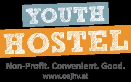 Logo Youth Hostel: non-profit, convenient, good