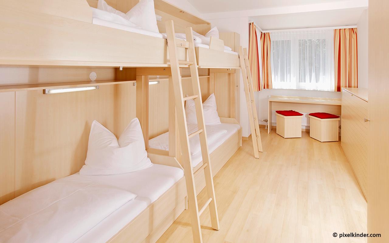 Jugendgästehaus Mondsee Mehrbettzimmer - © pixelkinder.com