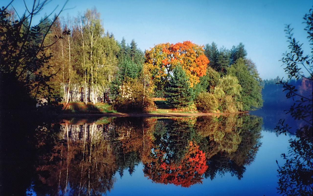 Jugendherberge Neu Nagelberg im Herbst