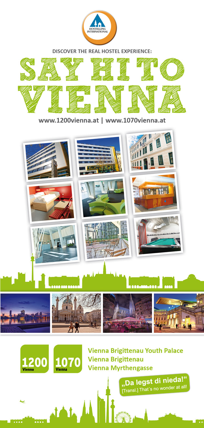 Brochure: Youth Hostels 1070+1200 Vienna