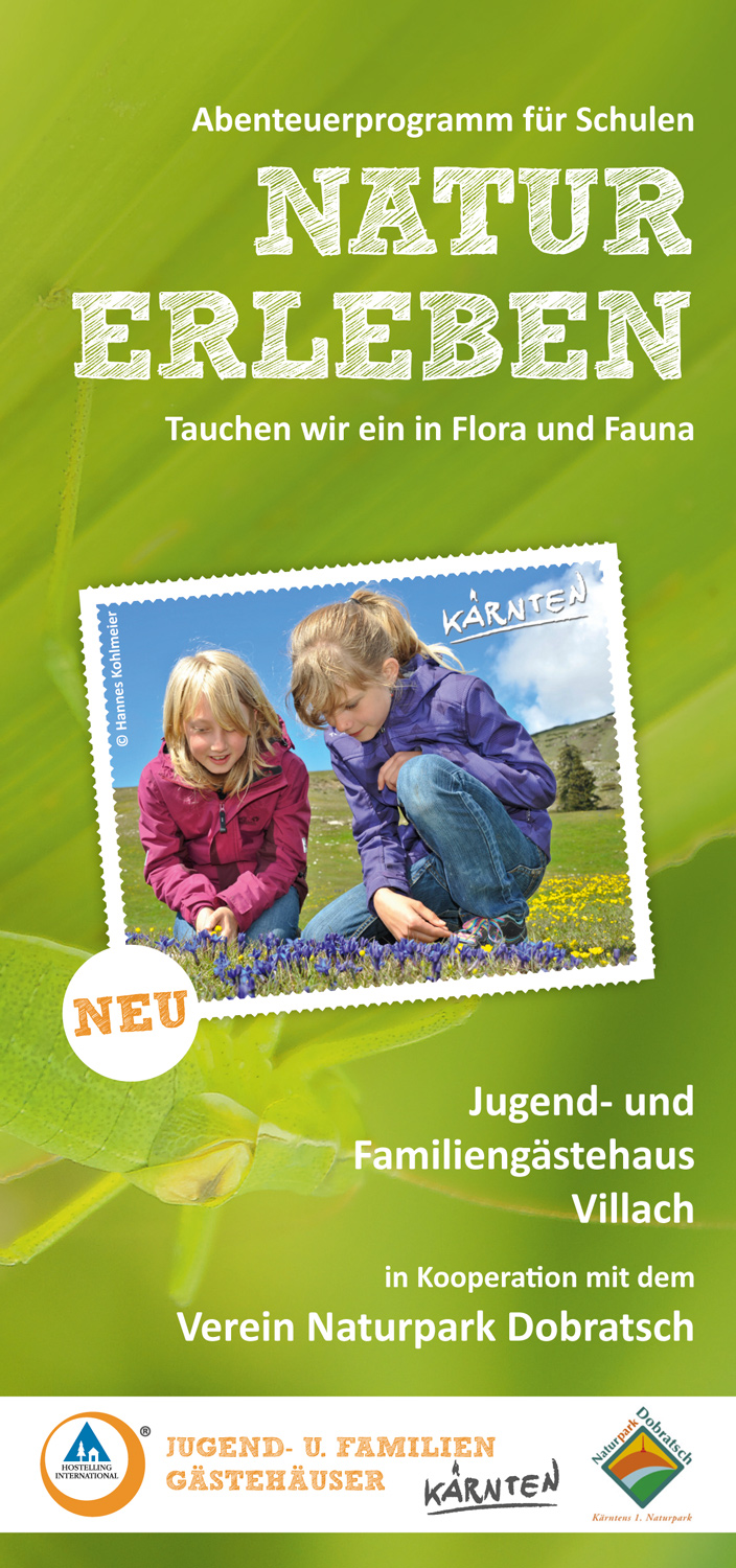 "Brochure: Villach school adventure program ""Experience Nature"""